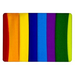 Paper Rainbow Colorful Colors Samsung Galaxy Tab 10 1  P7500 Flip Case