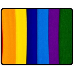 Paper Rainbow Colorful Colors Double Sided Fleece Blanket (medium)