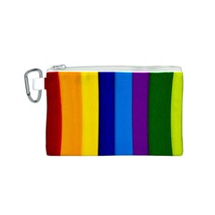 Paper Rainbow Colorful Colors Canvas Cosmetic Bag (s)