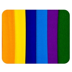 Paper Rainbow Colorful Colors Double Sided Flano Blanket (medium)