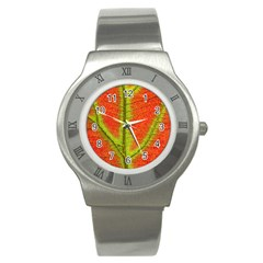 Nature Leaves Stainless Steel Watch