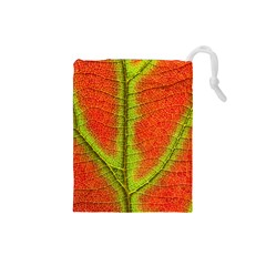 Nature Leaves Drawstring Pouches (small)