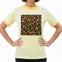 Leopard Women s Fitted Ringer T Shirts