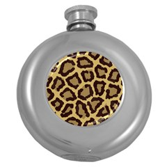 Leopard Round Hip Flask (5 Oz)