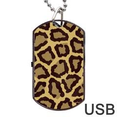 Leopard Dog Tag Usb Flash (two Sides)