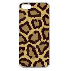 Leopard Apple Seamless Iphone 5 Case (clear)