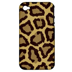 Leopard Apple Iphone 4/4s Hardshell Case (pc+silicone)