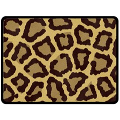 Leopard Double Sided Fleece Blanket (large)