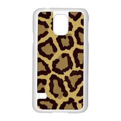 Leopard Samsung Galaxy S5 Case (white)