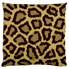 Leopard Large Flano Cushion Case (one Side)