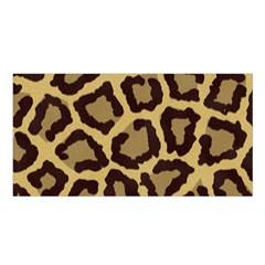Leopard Satin Shawl