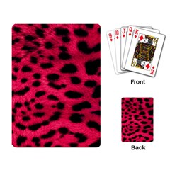 Leopard Skin Playing Card