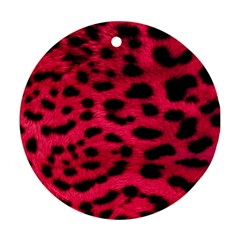 Leopard Skin Round Ornament (two Sides)