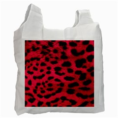 Leopard Skin Recycle Bag (one Side)