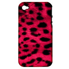 Leopard Skin Apple Iphone 4/4s Hardshell Case (pc+silicone)