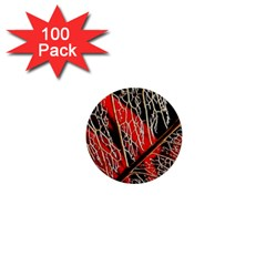 Leaf Pattern 1  Mini Buttons (100 Pack)