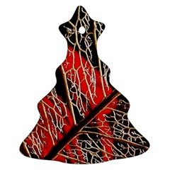 Leaf Pattern Christmas Tree Ornament (two Sides)