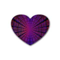 Matrix Rubber Coaster (heart)