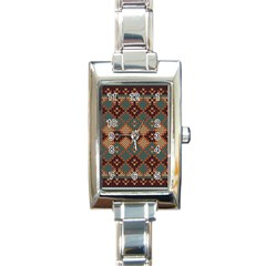 Knitted Pattern Rectangle Italian Charm Watch