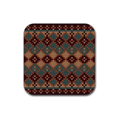 Knitted Pattern Rubber Square Coaster (4 Pack)