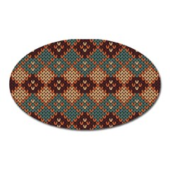 Knitted Pattern Oval Magnet