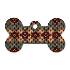 Knitted Pattern Dog Tag Bone (one Side)