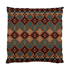 Knitted Pattern Standard Cushion Case (one Side)