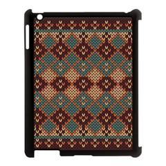 Knitted Pattern Apple Ipad 3/4 Case (black)