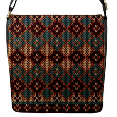 Knitted Pattern Flap Messenger Bag (s)