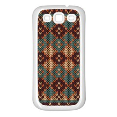 Knitted Pattern Samsung Galaxy S3 Back Case (white)