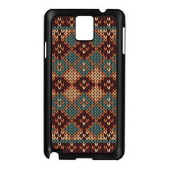 Knitted Pattern Samsung Galaxy Note 3 N9005 Case (black)