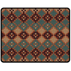 Knitted Pattern Double Sided Fleece Blanket (medium)