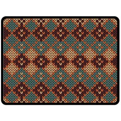 Knitted Pattern Double Sided Fleece Blanket (large)