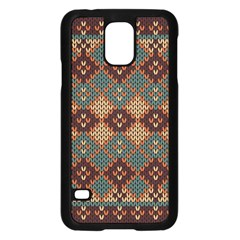 Knitted Pattern Samsung Galaxy S5 Case (black)