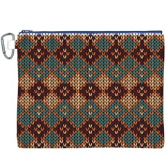 Knitted Pattern Canvas Cosmetic Bag (xxxl)