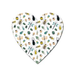 Insect Animal Pattern Heart Magnet