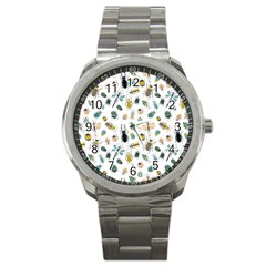 Insect Animal Pattern Sport Metal Watch