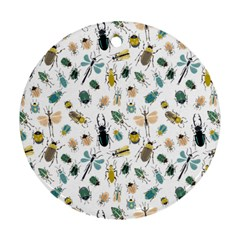 Insect Animal Pattern Round Ornament (two Sides)