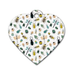Insect Animal Pattern Dog Tag Heart (two Sides)