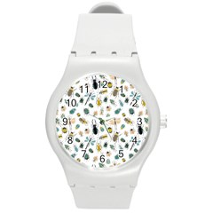 Insect Animal Pattern Round Plastic Sport Watch (m)