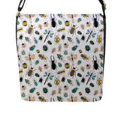 Insect Animal Pattern Flap Messenger Bag (l)