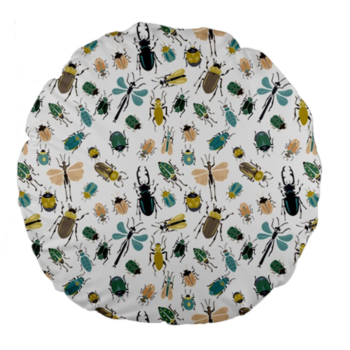Insect Animal Pattern Large 18  Premium Flano Round Cushions
