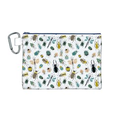 Insect Animal Pattern Canvas Cosmetic Bag (m)