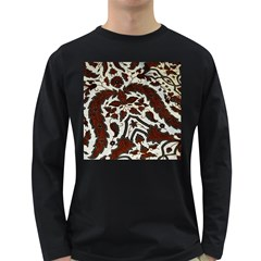 Javanese Batik Long Sleeve Dark T Shirts
