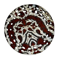 Javanese Batik Round Filigree Ornament (two Sides)