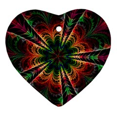 Kaleidoscope Patterns Colors Ornament (heart)