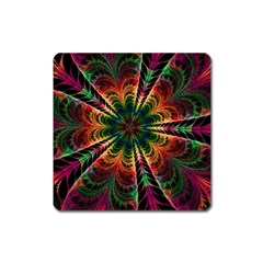 Kaleidoscope Patterns Colors Square Magnet