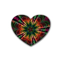 Kaleidoscope Patterns Colors Heart Coaster (4 Pack)