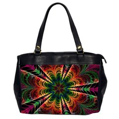 Kaleidoscope Patterns Colors Office Handbags (2 Sides)