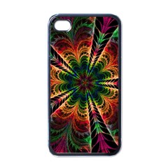 Kaleidoscope Patterns Colors Apple Iphone 4 Case (black)